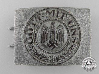 An Unusual Army (Heer) Enlisted Man's Belt Buckle by Berg & Nolte, Lüdenscheid