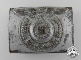 An SS Enlisted Man's Belt Buckle; RZM Marked
