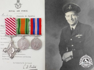 United Kingdom. An AFC Group to Wing Commander Sikes, RAF who was a Isle of Man TT Racer