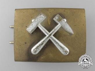 A Third Reich Mining Student's (Bergbau-Schüler) Belt Buckle