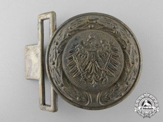 A Third Reich Brandenburg Fire Defence Service Officer's Belt Buckle; Published Example