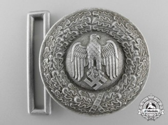 A German Army (Heer) Officer's Brocade Dress Belt Buckle