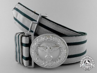 A National Forestry Service Official's Dress Brocade Belt with Buckle; Published Example