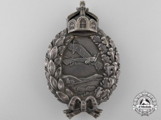A First War Prussian Pilot's Badge in Silver by Juncker