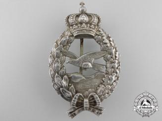 A Scarce Bavarian Commemorative Pilot's Badge by C. Pöllath Schrobenhausen