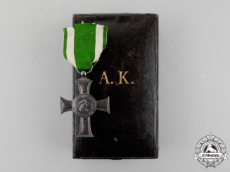 A Cased 1876-1909 Issue Saxony Albrecht Order Albrecht's Cross by G.A Scharffenberg