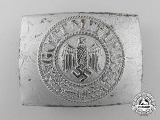 A Second War German Army/Heer Enlisted Buckle; C.T.D. 1943
