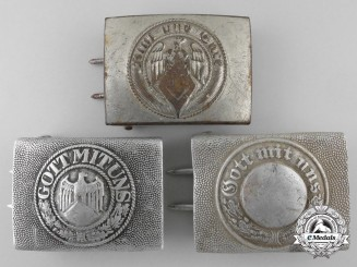 Three Second War German Enlisted Buckles