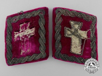 Croatia, Independent State. A Set of Military Clergymen of Christian Confession Collar Tabs
