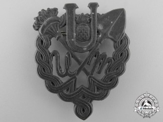 A Rare Second War Ustasha Youth Breast Badge 1943