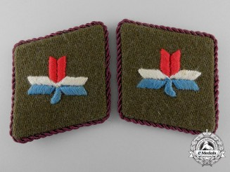Croatia, Independent State. A Pair of Ustasha Leaders Collar Tabs, c.1941