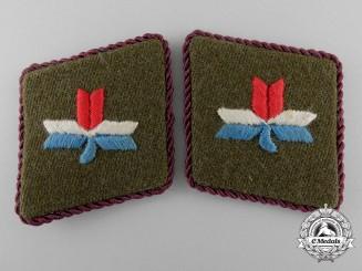 Croatia, Independent State. A Pair of Ustasha Leaders Collar Tabs, c.1941