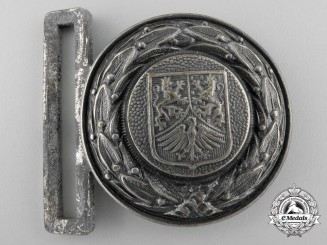 A Third Reich Hesse-Nassau Fire Service Officer's Belt Buckle; Published Example