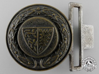 A Third Reich Rheinland Fire Service Officer's Belt Buckle by Dransfeld & Co.
