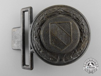A Third Reich Baden Fire Service Officer's Belt Buckle