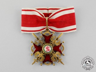 A First War Imperial Russian Order of St. Stanislaus, Commander, Military Division, c.1917