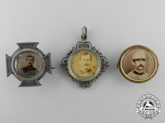 Three First War German Memorial Badges