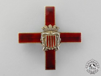 Spain. A Real Body of the Nobility of Catalonia, St. George Cross, Franco Era (1938-1975)