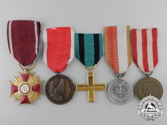 Five Polish Medals and Awards