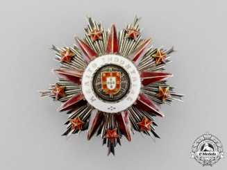 Portugal. An Order of Entrepreneurial Merit for Industrial Merit, Grand Officer's Breast Star, Type II (1910)
