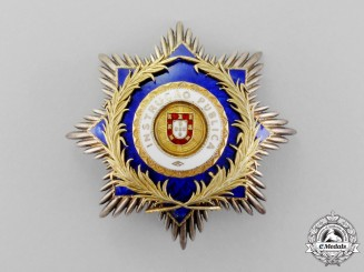 Portugal. An Order of Public Instruction, Grand Cross Breast Star
