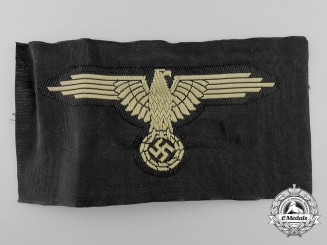 A Waffen-SS Tropical Sleeve Eagle with RZM-SS Label