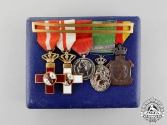 Spain, Kingdom. An Early Twentieth Century Military Medal Bar