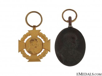 Pair of Austrian Miniature Commemorative Medals