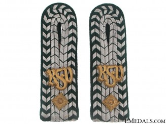 Pair of Shoulder boards - Customs Officer