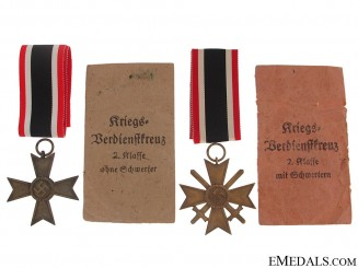 Pair of War Merit Crosses