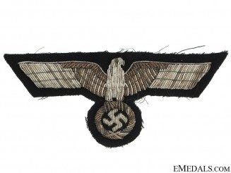 Panzer Officer's Bullion Breast Eagle