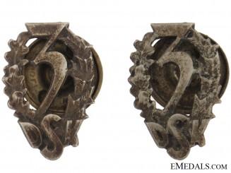 Pair of Collar Badges
