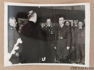 Press Photo of Pavelic receiving General Horstenau