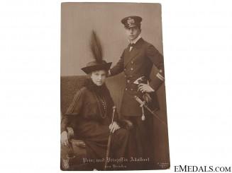 Prince and Princess Adalbert Postcard