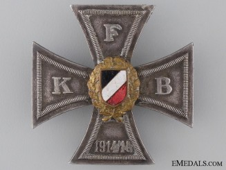 Prussian War Veteran Organization Honour Cross; First Class