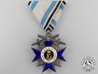 A Bavarian Order of Military Merit with Swords; Fourth Class