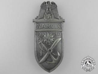 A Narvik Campaign Shield; Salesman's Board Removed