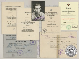 A Document Group to SS-Staffelmann Serving with SS-Divisions der Führer, Prinz Eugen; Yugoslav POW