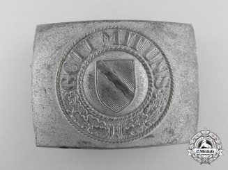 A Third Reich Rheinland Police Enlisted Man's Belt Buckle
