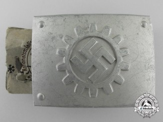 A German Labour Front Stosstrupp of the Werkschar Enlisted Man's Belt Buckle; Published