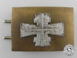 A Third Reich German Athletic Association Belt Buckle; Reduced Size