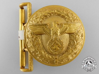 A Political Leader's Belt Buckle by Overhoff & Cie; RZM Control Tagged
