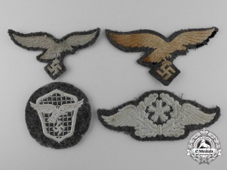 Four Luftwaffe Insignia