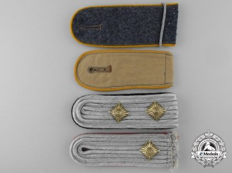 Four Luftwaffe Shoulder Straps & Boards
