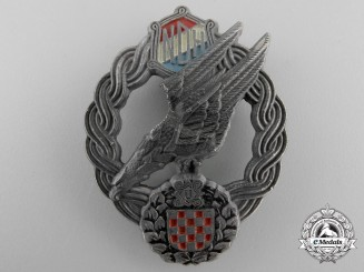A Very Rare Second War Croatian Paratrooper's Badge