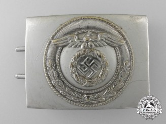 A National Socialist Motor Corps  Enlisted Man's Belt Buckle with Rotated Swastika