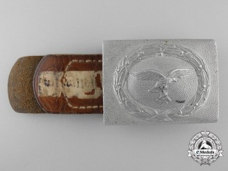 An 1938 Pattern Luftwaffe EM Belt Buckle by Friedrich Keller & Published