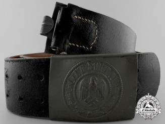 A German Army (Heer) Enlisted Man's Belt with Buckle