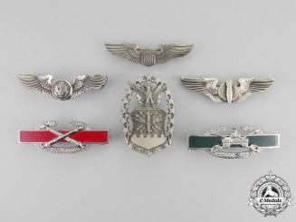 United States. Six Second War Military Badges