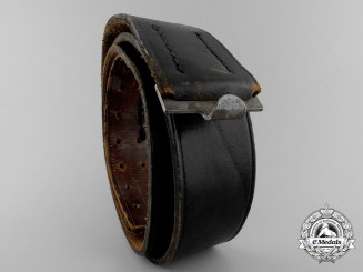 A Luftwaffe Black Leather Belt